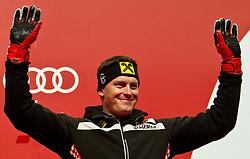 09.02.2011, Kandahar, Garmisch Partenkirchen, GER, FIS Alpin Ski WM 2011, GAP, Herren Super G, , Medal Ceremony, im Bild bronze Medaillen Gewinner Ivica Kostelic (CRO) // bronze Medal Ivica Kostelic (CRO) during Men Super G, Fis Alpine Ski World Championships in Garmisch Partenkirchen, Germany on 9/2/2011. EXPA Pictures © 2011, PhotoCredit: EXPA/ J. Groder