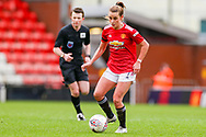 Manchester United midfielder Ella Toone (7) makes a pass during the FA Women's Super League match between Manchester United Women and Reading LFC at Leigh Sports Village, Leigh, United Kingdom on 7 February 2021.