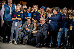 L'Année Hippique Awards<br /> Van der Net Inge, Poudret ALban, Motu Morel Sophie, Sorge Michel, Concours de Genève<br /> CHI Genève 2019<br /> © Hippo Foto - Dirk Caremans<br />  14/12/2019