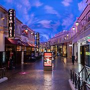 The Forum Shops at Caesars Palace remain sparse in Las Vegas, Nevada on Monday, October 19, 2020. (Alex Menendez via AP)