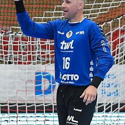 Ludwigshafens Skof Gorazd (Nr.16) jubelt beim Spiel in der Handball Bundesliga, Die Eulen Ludwigshafen - SC DHfK Leipzig.<br /> <br /> Foto © PIX-Sportfotos *** Foto ist honorarpflichtig! *** Auf Anfrage in hoeherer Qualitaet/Aufloesung. Belegexemplar erbeten. Veroeffentlichung ausschliesslich fuer journalistisch-publizistische Zwecke. For editorial use only.