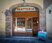 Restaurant in the Tuscan (Italy) town of Firenze, or Florence