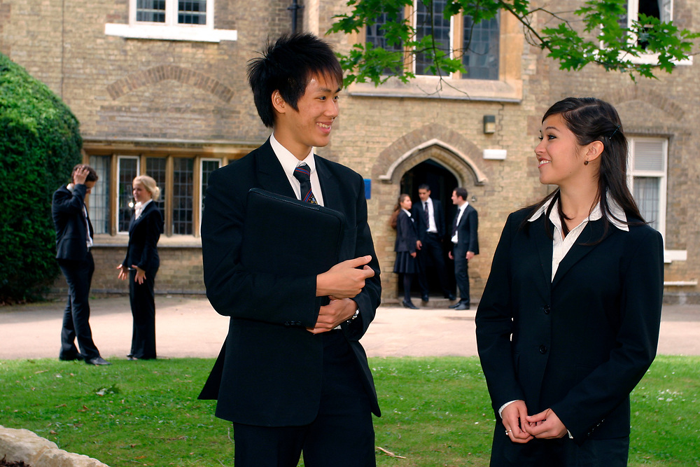 Hockerill Anglo-European College; grant maintained specialist language college, UK 2008, About one third of the pupils are boarders, In the sixth form students study the International Baccalaureate Diploma,