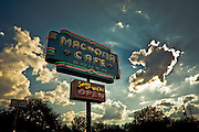 An old store sign on South Congress Avenue in Austin, Texas