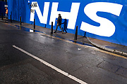 As the national coronavirus lockdown three continues an NHS thank you message for all the staff at the Royal London Hospital in Whitechapel, which has become one of the main hospitals in London dealing with Covid-19 patients at the heart of the NHS battle against the pandemic on 29th January 2021 in London, United Kingdom.