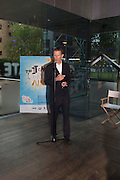SIR NICHOLAS SEROTA, The Tate Movie Project Launch, Tate Modern. London. 5 July 2011. <br /> <br />  , -DO NOT ARCHIVE-© Copyright Photograph by Dafydd Jones. 248 Clapham Rd. London SW9 0PZ. Tel 0207 820 0771. www.dafjones.com.