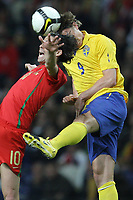 20090328: PORTO, PORTUGAL - Portugal vs Sweden: World Cup 2010 Qualifying Match. In picture: .tiago and kallstrom PHOTO: Ricardo Estudante/CITYFILES