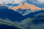 Purcell Mountains at sunrise, Radium, British Columbia, Canada