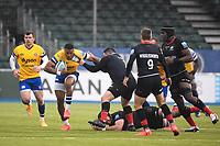 Rugby Union - 2019 / 2020 Gallagher Premiership - Round 22 - Saracens vs Bath - Allianz Park<br /> <br /> Bath Rugby's Anthony Watson evades the tackle of Saracens' Sam Crean.<br /> <br /> COLORSPORT/ASHLEY WESTERN