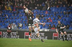 April 29, 2018 - Toulouse, France - Bejamin Noble (sr) vs Gael Fickou  (Credit Image: © Panoramic via ZUMA Press)