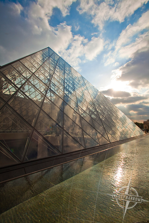 Pyramid at the Louvre Museum, Paris France.