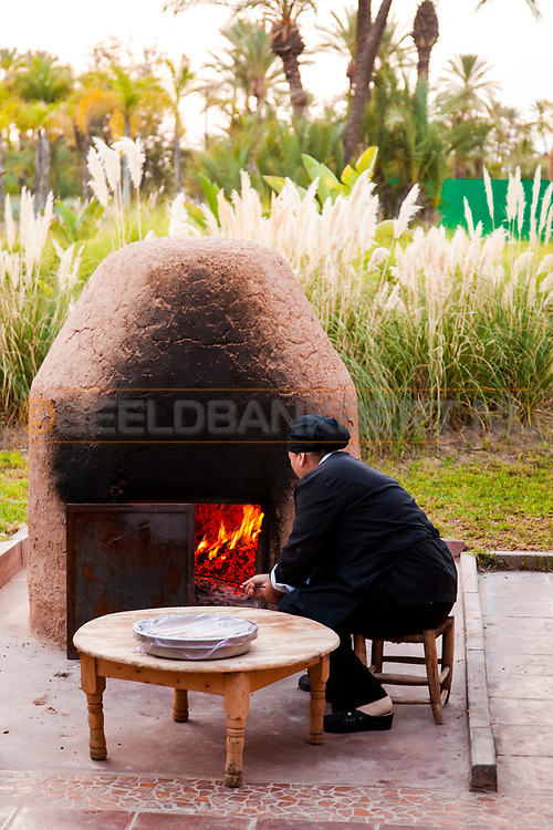 06-10-2015 -  Foto van Vers traditioneel brood bij Pullman Marrakech Palmeraie Resort and Spa in Marrakech, Marokko.