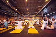 IMadrid  celebrated the Yoga Day with the Bollywood actress, Shilpa Shetty, The Wife of India's Ambassador Shrimati Dolly and Gopala, senior teacher of the Sivananda Center