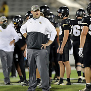 ORLANDO, FL - NOVEMBER 14:  Head coach Josh Heupel of the Central Florida Knights is seen against the Temple Owls at Bounce House-FBC Mortgage Field on November 14, 2020 in Orlando, Florida. (Photo by Alex Menendez/Getty Images) *** Local Caption *** Josh Heupel