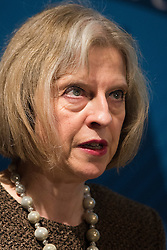 © London News Pictures. 08/03/2013. London, UK. Home Secretary THERESA MAY speaking at The Victory 2015 Conservative party Conference held at the Institute of Mechanical Engineers in London. Photo credit: Ben Cawthra/LNP