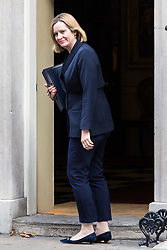 London, October 17 2017. Home Secretary Amber Rudd attends the UK cabinet meeting at Downing Street. © Paul Davey