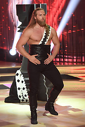 May 2, 2019 - Rome, Italy - Rome: Rai Auditorium. Second episode Dancing with the stars. In the photo: Lasse Matberg and Sara Di Vaira (Credit Image: © Maurizio D'Avanzo/IPA via ZUMA Press)