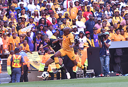 South Africa: Johannesburg: Orlando Pirates player Abbubaker Mobara challenges for the ball against Kaizer Chiefs player Willard Katsande during the Soweto derby, for the Absa Premiership at FNB Stadium, Gauteng.<br />Picture: Itumeleng English/African News Agency (ANA)