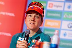 Lea Einfalt during press conference of Slovenian Nordic Ski Cross country team before new season 2019/20, on Novamber 12, 2019, in Petrol, Ljubljana, Slovenia. Photo Grega Valancic / Sportida