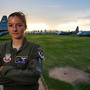 After losing her right leg above the knee in a boating accident. U.S. Air Force Capt. Christy Wise, an HC-130 pilot. Never doubted her self that she would return to serving her country and flying. (U.S. Air Force photo by Staff Sgt. Perry Aston)