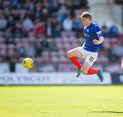 Cowdenbeath's Luke Armstrong. <br /> Dunfermline 5 v 1 Cowdenbeath, Scottish League Cup game played today at East End Park.