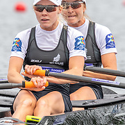 Zoe McBride & Jackie Kiddle , New Zealand elite  Womens Lightweight Double Scull<br /> <br /> Racing the Semi-Finals at FISA World Rowing Cup III on Saturday 13 July 2019 at the Willem Alexander Baan,  Zevenhuizen, Rotterdam, Netherlands. © Copyright photo Steve McArthur / www.photosport.nz