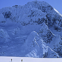 Ski Mountaineers cross Warwan Pass en route from Ladakh to Kashmir In an expedition across India's Great Himalaya Range.