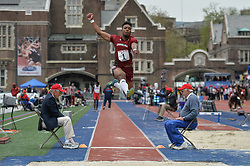 April 27, 2018 - Philadelphia, Pennsylvania, U.S - YANN RANDRIANASOLO (1) from South Carolina competes in the Long Jump Championships during the meet held in Franklin Field in Philadelphia, Pennsylvania. (Credit Image: © Amy Sanderson via ZUMA Wire)