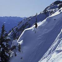 Sinuhe (MR) skiing The Ridge at Bridger Bowl, Montana.