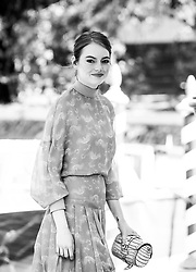 August 30, 2018 - Venice, Italy - (EDITORS NOTE: Image has been converted to black and white.)  Emma Stone is seen during the 75th Venice Film Festival, in Venice, Italy, on August 30, 2018. (Credit Image: © Matteo Chinellato/NurPhoto/ZUMA Press)