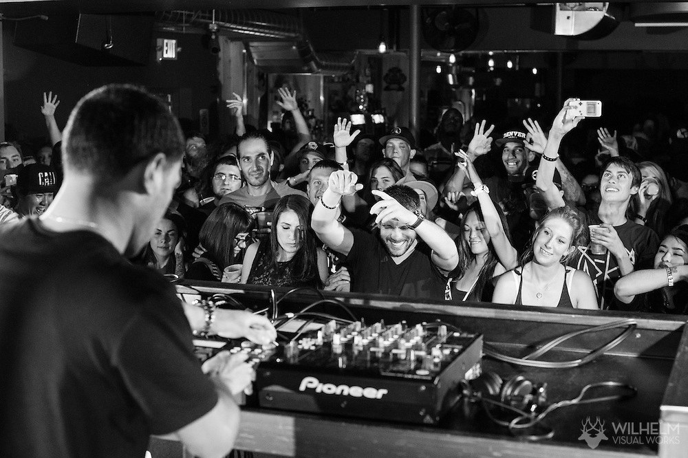 Attendees enjoy the AraabMuzik performance at Red Bull Sound Select Presents Denver at The 1Up on Colfax in Denver, CO, USA, on 30 July, 2015.