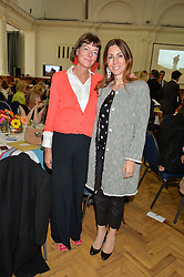 Left to right, SOPHIA BEDDOW and MELINA HORNE at a lunch in aid of the charity African Solutions to African Problems (ASAP) held at the Royal Horticultural Hall, Vincent Square, London on 19th May 2016.