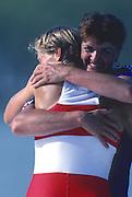 Banyoles, SPAIN, Romanian Women's single Sculls, ROM W1X:  Elisabeta LIPA - OLENIUC, Gold Medalist: 1992 Olympic Regatta, Lake Banyoles, Barcelona, SPAIN.    [Mandatory Credit: Peter Spurrier: Intersport Images]