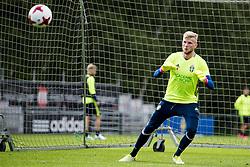 June 6, 2017 - Helsingborg, SVERIGE - 170606 MÅ'lvakt Anton Cajtoft under en trÅning med U21-landslaget i fotboll den 6 juni 2017 i Helsingborg  (Credit Image: © Ludvig Thunman/Bildbyran via ZUMA Wire)