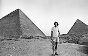 The Grateful Dead, Egypt 1978  Bob Weir inspects the Pyramids on the afternoon of the first concert.