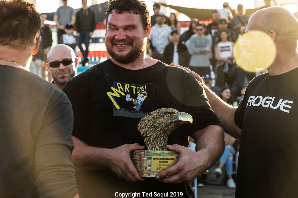The Arnold Pro Strongman World Series at the Santa Monica Pier.