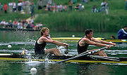 Peter Spurrier Sports  Photo<br />email pictures@rowingpics.com<br />Tel 44 (0) 7973 819 551<br />Photo Peter Spurrier<br />LucerneInternational Regatta<br />Greg [right] and Jonny Searle cox Garry Herbert