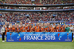 July 7, 2019 - Lyon, France - Netherlands after the 2019 FIFA Women's World Cup France Final match between The United State of America and The Netherlands at Stade de Lyon on July 7, 2019 in Lyon, France. (Credit Image: © Jose Breton/NurPhoto via ZUMA Press)
