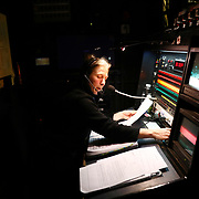 Deputy stage manager Jess Morris cues lighting during a performance of the Barber of Seville at the English National Opera in London, Britain, 30 October 2017.  English National Opera (ENO) is an opera company based in London. It is one of the two principal opera companies in London. English National Opera traces its roots back to 1931 when Lilian Baylis established the Sadler's Wells Opera Company at the newly re-opened the Sadler's Wells Theatre. Baylis had been presenting opera concerts and theatre in London since 1898 and was passionate about providing audiences with the best theatre and opera at affordable prices. ENO became the first British opera company to tour the United States, and the first major foreign opera company to tour what was then the Soviet Union.EPA-EFE/NEIL HALL