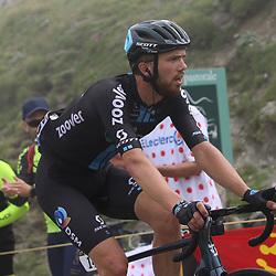 LUZ ARDIDEN (FRA) CYCLING: July 15<br /> 18th stage Tour de France Pau-Luz Ardiden<br /> Images from the Col du Tourmalet<br /> Joris Nieuwenhuis