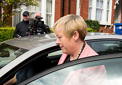 © Licensed to London News Pictures. 30/06/2016. London, UK. Former shadow business secretary ANGELA EAGLE leaves home on the day she is expected to launch a bid to become leader of the Labour Party. Current leader of the Labour Party Jeremy Corbyn is facing pressure to resign following a number of resignations in his shadow cabinet. Photo credit : Tom Nicholson/LNP