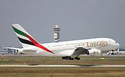 A6-EOI Emirates Airways Airbus A380-800 at Malpensa (MXP / LIMC), Milan, Italy
