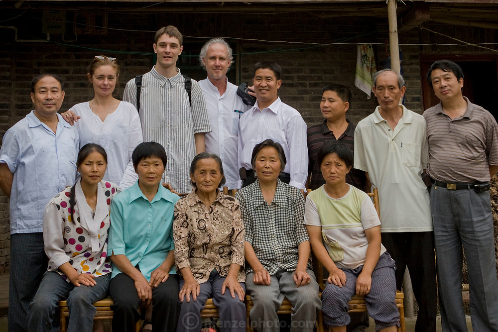 Faith D'Aluisio and Peter Menzel, authors of the book What I Eat: Around the World in 80 Diets with farmer Lan Guihua at her home outside Chengdu.