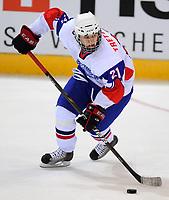 Ishockey<br /> VM U18 2011<br /> Foto: imago/Digitalsport<br /> NORWAY ONLY<br /> <br /> 14.04.2011<br /> <br /> Dresden, EnergieVerbund Arena: Eishockey IIHF U18 Weltmeisterschaft, Vorrunde<br /> <br /> Finland v Norge<br /> <br /> Norwegens Matthias Trettenes (Modo)