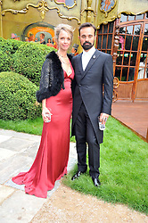 EVGENY LEBEDEV and SABRINA GUINNESS at the Raisa Gorbachev Foundation fourth annual fundraising gala dinner held at Stud House, Hampton Court, Surrey on 6th June 2009.
