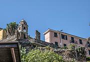 Italy, Cinque Terre, townscape of Corniglia