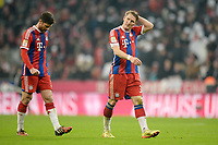 Fotball<br /> Tyskland<br /> 03.02.2015<br /> Foto: Witters/Digitalsport<br /> NORWAY ONLY<br /> <br /> Spielende v.l.  Xabi Alonso, Bastian Schweinsteiger (Bayern)<br /> <br /> Fussball Bundesliga, FC Bayern München - FC Schalke 04