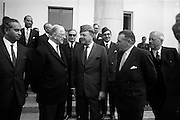 17/7/1964<br /> 7/17/1964<br /> 17 July 1964<br /> <br /> Ayub Khan President of Pakistan speaking and posing for pictures with Irish President Éamon de Valera at Aras an Uachtarain