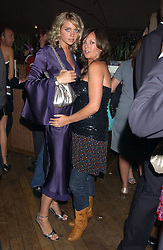 Left to right, LAURA ROSSI and DANI MARIE at a polo players party hosted by AJM International Publishing and Cartier celebrating the 21st anniversary of the Cartier International Polo held at The Collection, London SW3 on 19th July 2005.<br /><br />NON EXCLUSIVE - WORLD RIGHTS