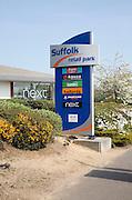 Sign for Suffolk Retail park, central Ipswich, Suffolk, England, UK
